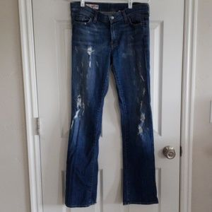 Red Engine boot cut jeans